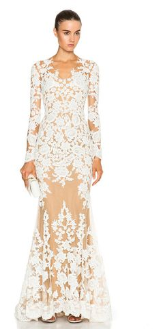 06e5704403eb ZUHAIR MURAD Lace mermaid gown found on Nudevotion White Sequin Dress
