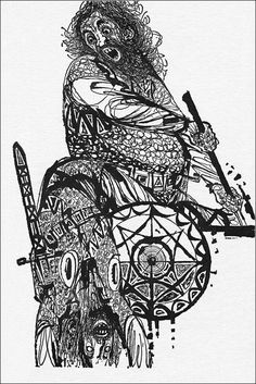 Last of the Vikings. Littlehampton Book Services Ltd, Illustrator Charles Keeping. Art Deco Illustration, Floral Illustrations, Viking Books, Yarn Painting, Artist Pens, Mid Century Art, Pen Art, Retro Art, Artist At Work