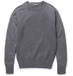Bottega Veneta Contrast-Front Cotton-Blend Sweater | MR PORTER