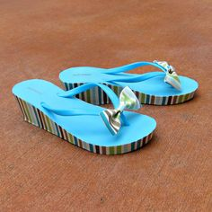 Flip Flop Makeover with Fabric and Mod Podge | Morena's Corner
