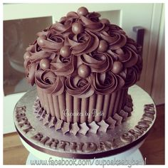 Chocolate Giant Cupcake | by Cupcakes by Beth