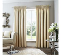 Buy Curtina Rimini Lined Curtains - 229x229cm - Natural at Argos.co.uk - Your Online Shop for Curtains, Blinds, curtains and accessories, Home furnishings, Home and garden.