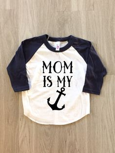 Mom is my anchor  Mother's Day  baby boy or by 8thWonderOutfitters