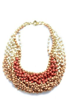 Statement of the Art Necklace in Blush, #ModCloth