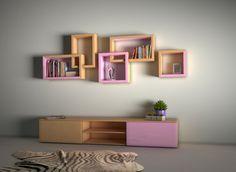 Pink shelf for Girls, from Novo Quadratum!