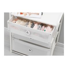 IKEA LOTE chest of 3 drawers Can also be used as a bedside table.