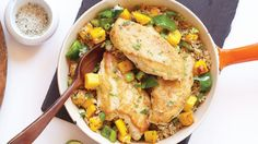 Mango Mojito Chicken. Bring the refreshing flavors of summer to this satisfying and deceptively simple dinner.