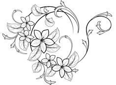 flowers drawing, decorative Tattoo Drawings, Tattoos, Rock Painting, Painted Rocks, Vectors, Flowers, Drawn Thread, Painted Stones, Tatuajes