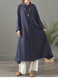 Red And Blue Casual Cotton Linen Maxi Dresses For Women 1388 – Linen Dresses For Women Women's Dresses, Linen Dresses, Cotton Dresses, Blue Dresses, Dress Shirts For Women, Pants For Women, Clothes For Women, Informal Attire, Hijab Style