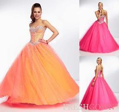New Beaded Evening/Prom/Formal/Party/Quinceanera dress/Ball gown/SZ6 8 10 12 14