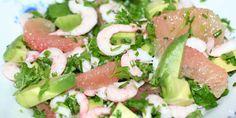 Rejernes og grapefrugtens fine, sarte nuancer er flotte med den grønne avocado.