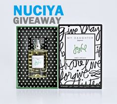 """Enter to win a designer-autographed paraben-free fragrance """"Joyful"""" by My Daughter Homemade Cosmetics, Vegan Beauty, Organic Beauty, Natural Beauty, Beauty Review, Beauty Secrets, To My Daughter, Joyful, Product Launch"""