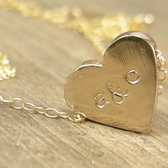 Personalized Heart Initial Necklace <3
