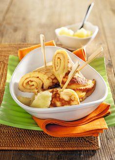 Walnusspfannkuchen mit Apfelmus