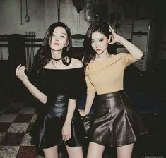 Y/n + y/n's bff K Fashion, Asian Fashion, Fashion Outfits, Friends Korean, Cute Korean Girl, Asian Girl, Bff, Chica Cool, Girl Couple