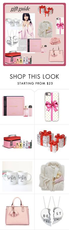 """""""Besties Gift Guide"""" by ditsydot19 ❤ liked on Polyvore featuring Prada, Casetify, Clinique, National Tree Company, giftguide, besties and ditsydot19"""