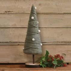 Fabric Christmas Trees, Cone Christmas Trees, Christmas Gift Box, Christmas Projects, Holiday Crafts, Christmas Holidays, Christmas Decorations, Christmas Ornaments, Holiday Decorating