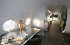 Recycled plane as a hotel room