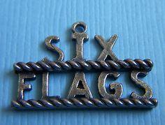 Vintage Six Flags Sterling Charm | eBay