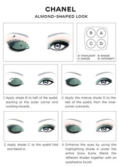 Chanel Eye Makeup Chart: How to Wear Chanel Les 4 Ombres Eye Shadow | Beautygeeks