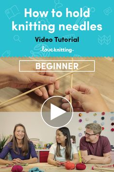 Watch this quick and simple tutorial on how to hold knitting needles! If you're a beginner, picking up your needles is the first step! Find more tutorials at LoveKnitting.com