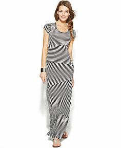 Spring 2014 Trend Report Sporty Chic Striped Maxi Dress Look - Women - Macy's