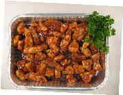"BBQ Chicken for a Crowd - Yields approximately 50 entrée sized servings. Four disposable aluminum pans measuring 10""x12¾""x2½"" are recommended."