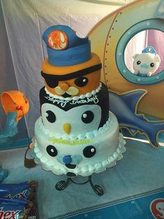 OCTONAUT BIRTHDAY CAKE, Barnacles, Kwazii, Peso, Octonaut Birthday Party