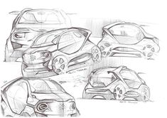 Some sketches by Federico Acuto, via Behance