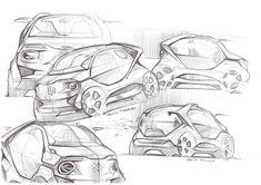 Some sketches by Federico Acuto, via Behance