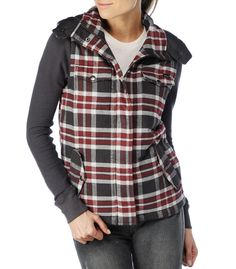 RVCA Womens : Jackets / Sweaters - Flannel Puffer 2