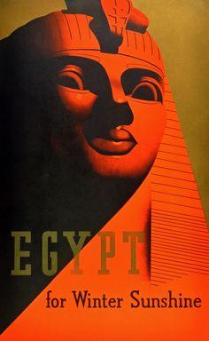 Vintage travel poster, Egypt