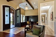 Iron Entry Doors Entry Contemporary with Entry Exposed Wood Beams