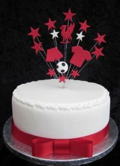 Liverpool Football Birthday Cake Topper Suitable For A Cake Football Birthday Cake, Football Cakes, Liverpool Cake, Lunch Boxes, Occasion Cakes, Birthday Cake Toppers, Baking, Amazon, Kitchen