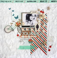 Sketch de Agosto - Scrap Entre Amigas  Journey by Maísa Mendonça #scrapbook page