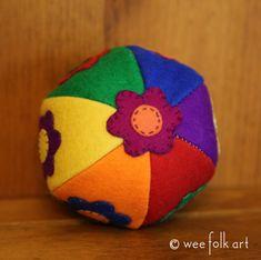 Rainbow Wool Felt Balls | Wee Folk Art