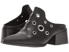 Sol Sana Clarice Mule (Black Eyelet) Women's Clog/Mule Shoes