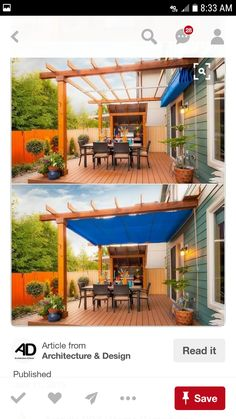 The pergola kits are the easiest and quickest way to build a garden pergola. There are lots of do it yourself pergola kits available to you so that anyone could easily put them together to construct a new structure at their backyard. Pergola Canopy, Pergola Shade, Pergola Patio, Backyard Patio, Backyard Landscaping, Cheap Pergola, White Pergola, Patio Grill, Patio Shade