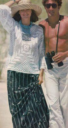 1970s Boho Lace Sweater VINTAGE CROCHET PATTERN to make