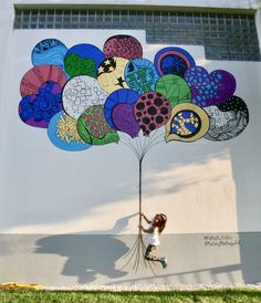 Kelsey Montague Art- what lifts you up. (Feathers, balloons, hearts, birds)