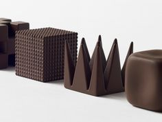 """Nendo's experiment in 3D printed textures in chocolate """"gave the taster a different taste in the mouth just because of the different texture"""""""