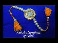 Rakhi Making - How To Make Rakhi At Home For Raksha Bandhan Festival | Jewellery art studio - YouTube
