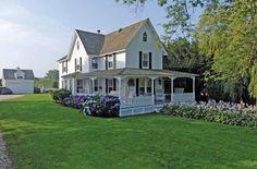 Farmhouse with wrap-around porch
