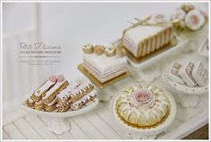 dollhouse miniature pastries | Classic French Pastry Eclair in miniature dollhouse 1:12 scale