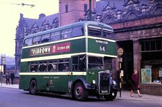 City Transport bus outside Victoria Station, Nottingham, early 1960s.