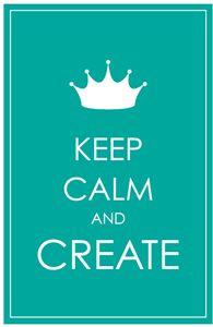 Silhouette Design Store - View Design #33768: keep calm create