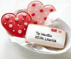 Personalized Giant Valentine's Day Cookies