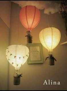 Turn paper lamps into parachutes. Use with or without lights. I absolutely LOVE this idea!!