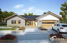 Nevada - Dobre Domy Flak & Abramowicz Nevada, Modern Bungalow House, Garage Doors, Outdoor Decor, Home Decor, Prefab Homes, Interiors, Build House, Decoration Home