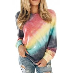 Violet Rouge, Bleu Violet, Casual Sweaters, Casual T Shirts, Cardigans, Shirts & Tops, Women's Tops, Tie Dye Long Sleeve, Long Sleeve Tops